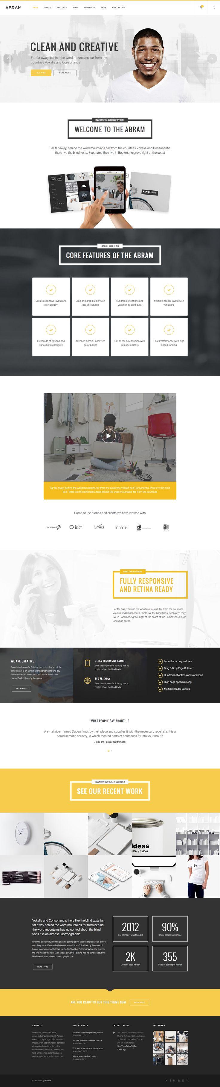 Abram - Multipurpose WordPress Theme
