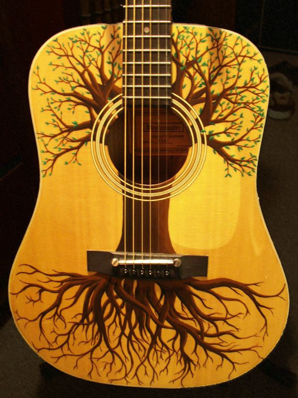 this guitar remembers her roots...