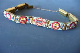 Oude armband Micro-Mozaïek made in Italy jaren 50