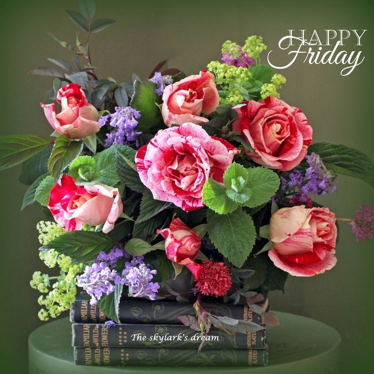 Happy Friday Greetings More Flowers Birthday Wishes