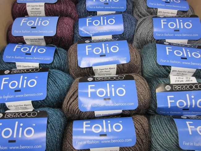 New! Folio™ by Berroco is a soft blend of alpaca and rayon for lightweight garments and accessories. Available in-store and online.
