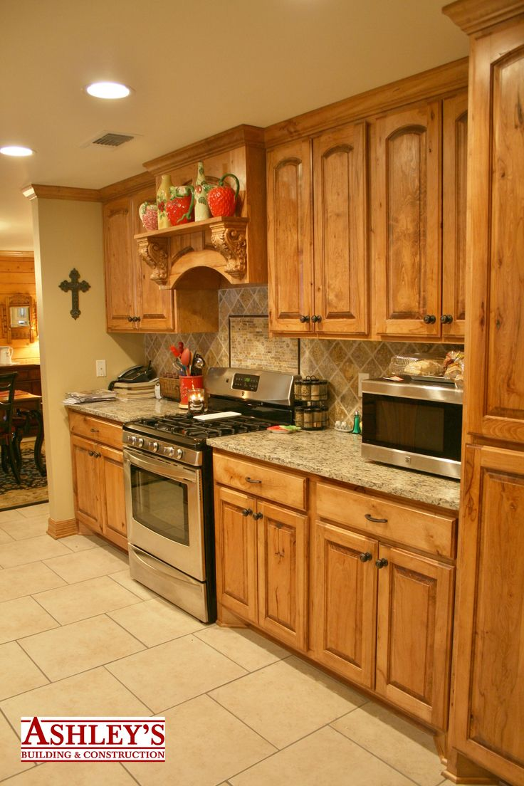 Www Ashleysbuilding Com Kitchen Remodel Rustic Beech Custom Cabinets Granite Countertop All New