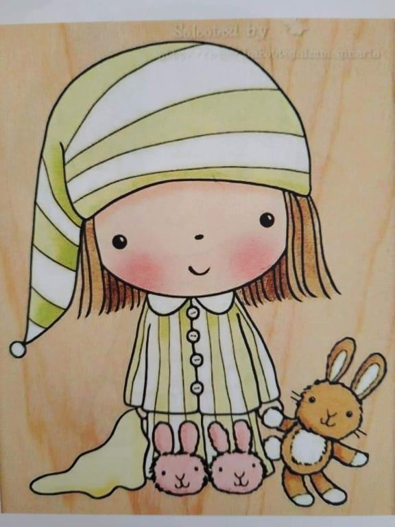 First Aid Mimi Penny Black Decorative Rubber Stamps