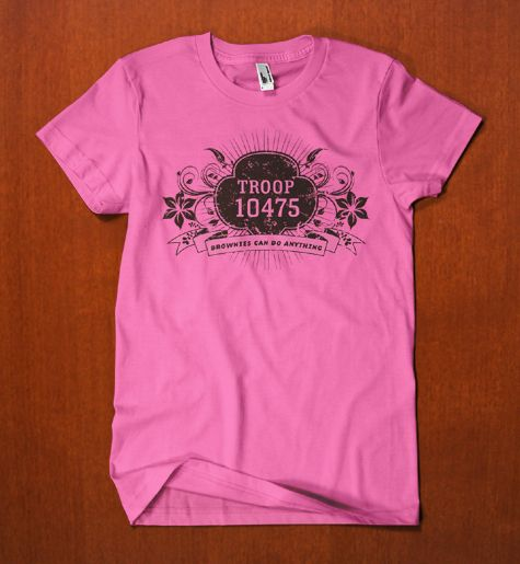 T shirt graphics by kate scott via behance brownie girl for Girl scout troop shirts