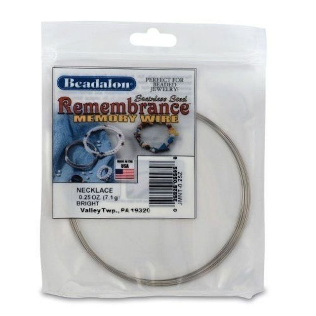 Memory Wire - Beadalon Remembrance Wire - Necklace - Jewellery Making - Silver  £4.50