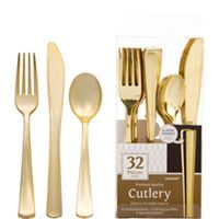 Colorful Border Premium Tableware - Gold Trim Premium Plastic Plates - Party City