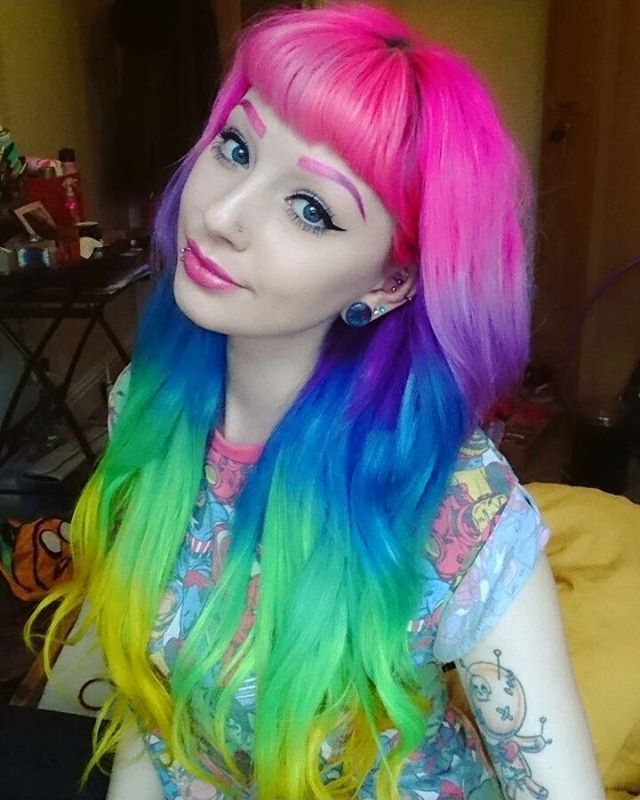 Should I do anything special for when I hit 20k?   Extensions from @vpfashion ❤ use my coupon code Ashton01 for $10 off ❤  #me #pinkhair #purplehair #bluehair #greenhair #yellowhair #rainbowhair #pink #purple #blue #green #yellow #rainbow #tattoo #extensions #vpfashion #lunatikhairdye #makeup #piercings #blueeyes #eyes #hair #eyebrows #pinkeyebrows #purpleeyebrows