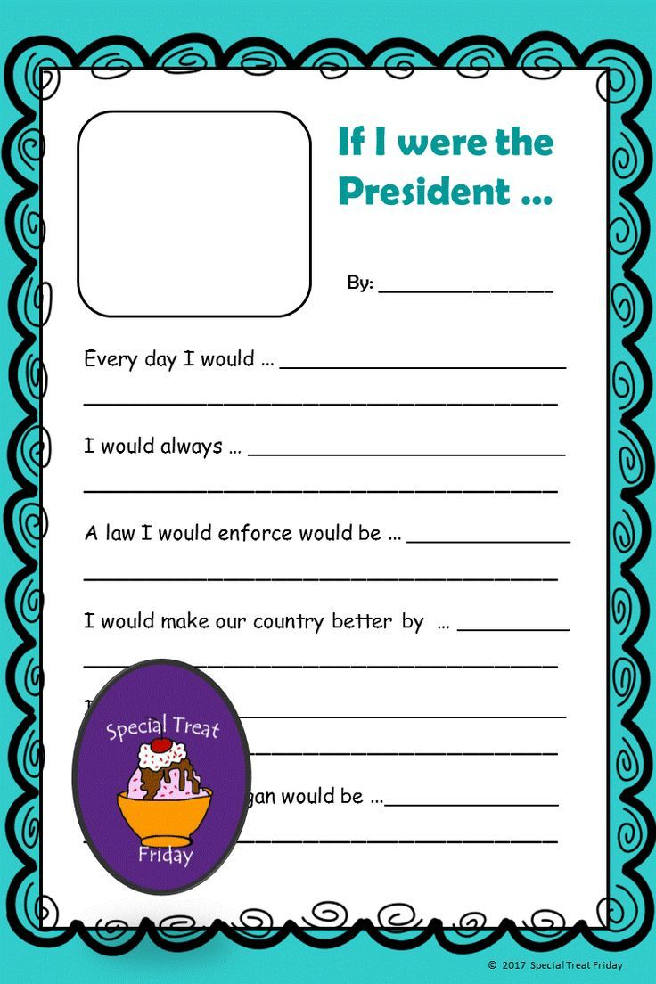 If I were President Activities | Long Ago and Today Unit | If i was