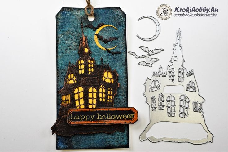 Happy  Halloween Sizzix Thinlits - Haunted House