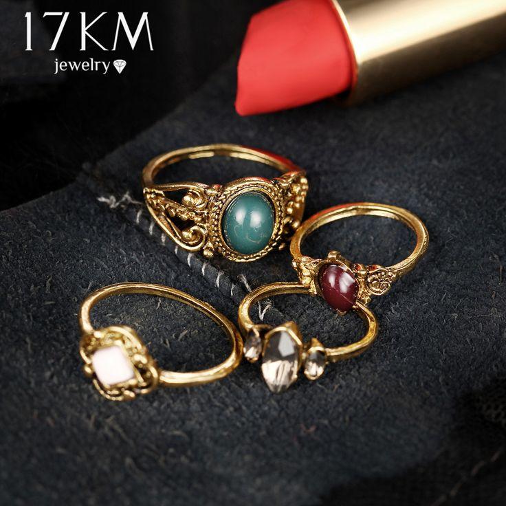 Bohemian Multicolor Turco Conjuntos Estilo Punk Acrílico Cristal Flor Anéis Midi Anéis para Mulheres Anillos Jóias Homem
