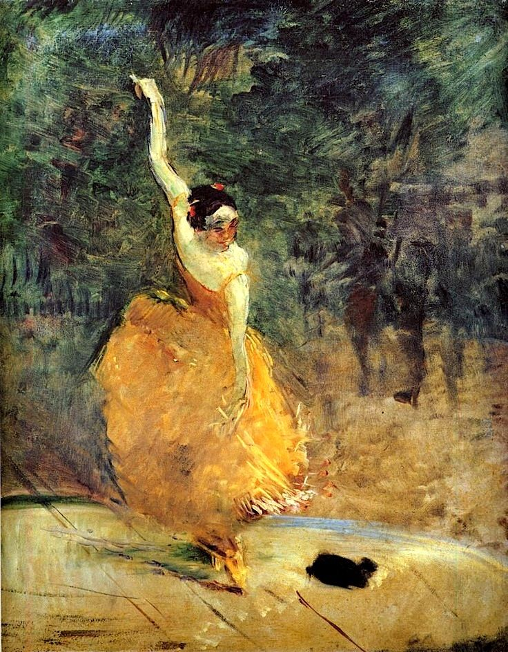 Henri de Toulouse-Lautrec, The Spanish Dancer, 1888, Oil on canvas, Private Collection #dance