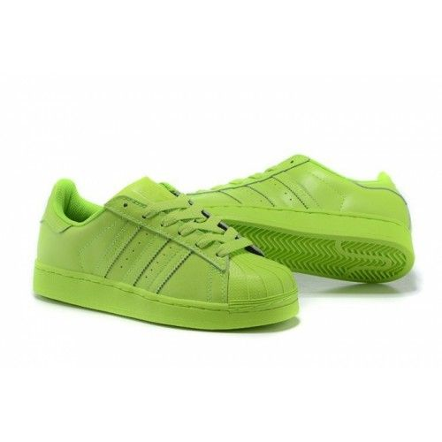 on sale bc021 37ce1 Billige Adidas Originals Superstar Supercolor PHARRELL WILLIAMS  Herren Damen Laufschuhe SOLAR Gelb S83398 Billig Kaufen