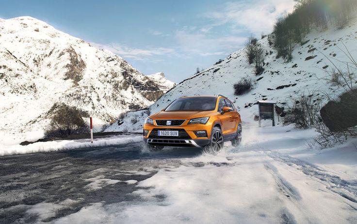 #Ateca na śniegu czuje się jak ryba w wodzie :)