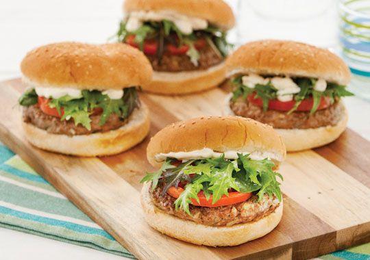 Moroccan Lamb Burgers