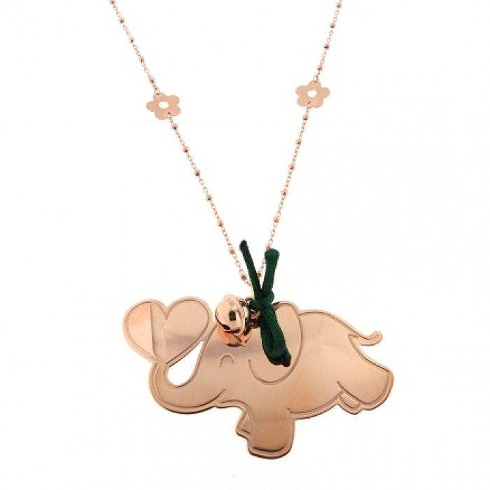 Ciondolo Rue Des Mille I Sogni Son Desideri Elefante argento 925