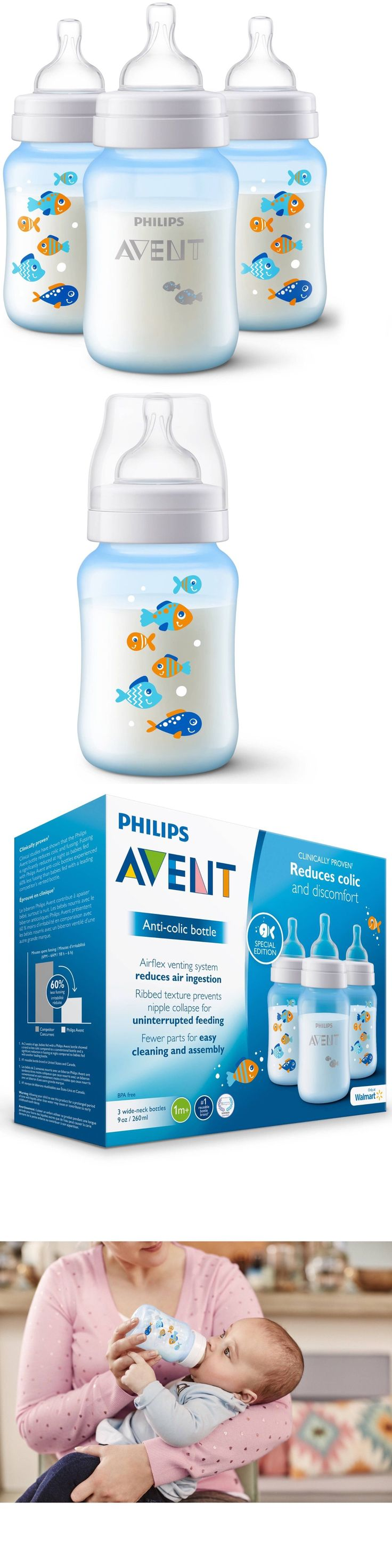 Baby Bottles 20402: Philips Avent Anti-Colic Fish Design 9Oz Baby Bottles, Bpa-Free, 3-Pack -> BUY IT NOW ONLY: $39.97 on eBay!