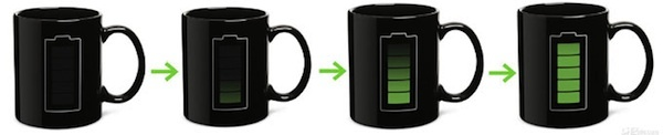 Taza con indicador de batería (calor)