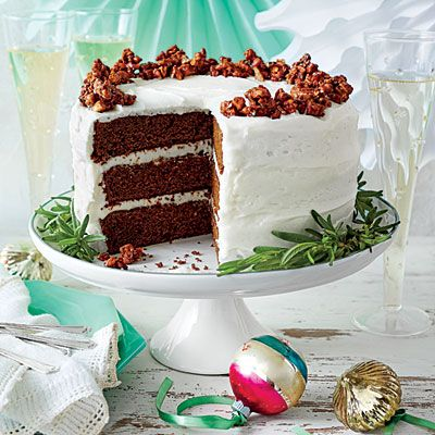 Gingerbread Cake with Buttermilk Frosting - Showstopping Christmas Cake Recipes - Southern Living