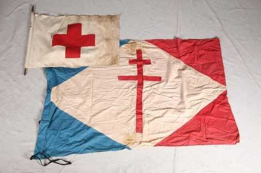Lot: 1113: SIXTEEN VINTAGE FLAGS. Red Cross flag, New York W, Lot Number: 1113, Starting Bid: $70, Auctioneer: Garth's Auction Inc., Auction: Garth's Eclectic Auction, Date: December 5th, 2008 PST