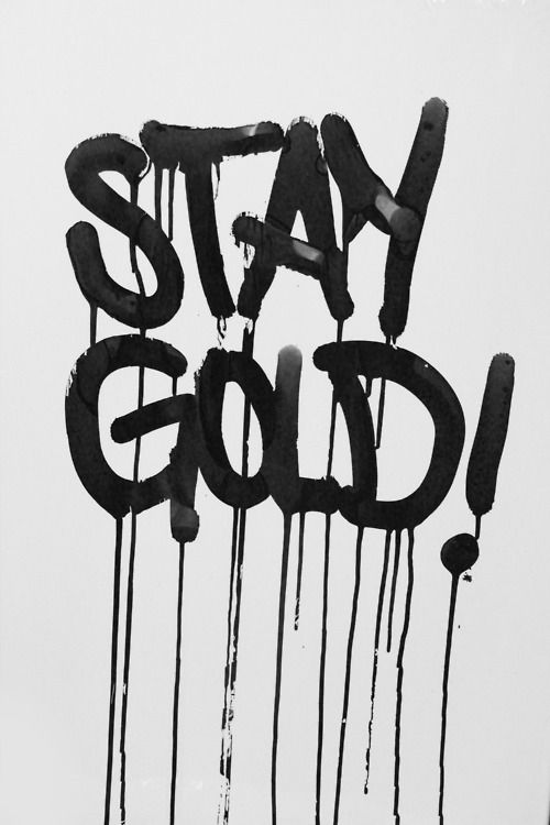 Stay Gold The Outsiders Novel Saying Quotes Quote Things I