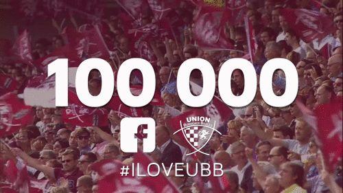 La page Facebook de l'Union Bordeaux Bègles Rugby dépasse les 100 000 fans (juillet 2015)