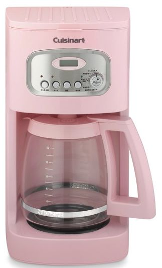 fun #pink #Cuisinart coffee maker http://rstyle.me/n/hfujwr9te
