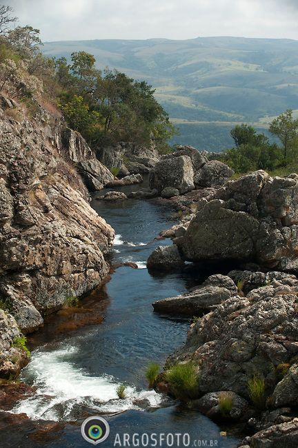 Rolinho Waterfall, Serra da Canastra National Park, Minas Gerais, Brazil