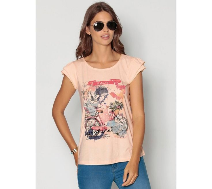 Tričko s potlačou a volánmi | modino.sk #ModinoSK #modino_sk #modino_style #style #fashion #shirt