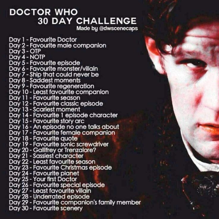 Doctor Who 30 Day Challenge: Day 1
