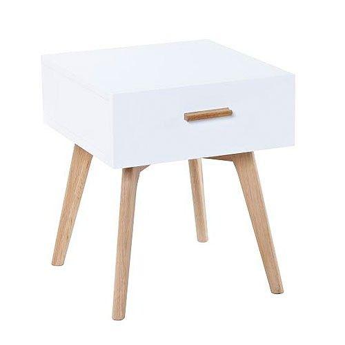 Vasby Bedside Table - White - Scandinavian Furniture | Milan Direct