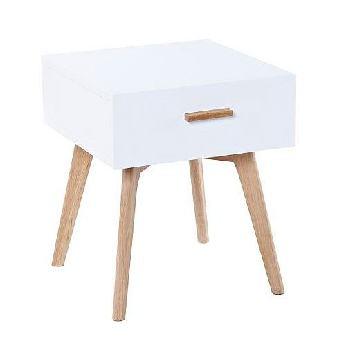 Vasby Bedside Table - White - Scandinavian Furniture | Milan Direct