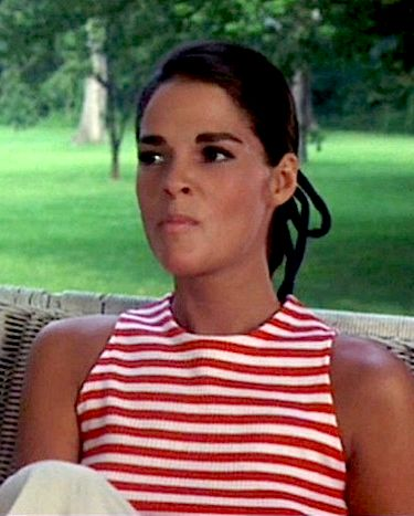 "Model Ali MacGraw turned ""Goodbye, Columbus"" into a fashion shoot with a love story. Great 60s outfits."