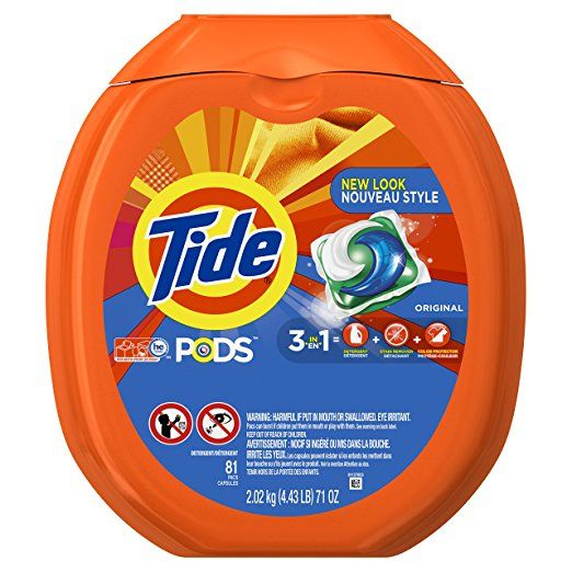 Amazon: Tide PODS 3 in 1 HE Turbo Laundry Detergent Pacs, Original Scent, 81 Count Tub ONLY $16.97