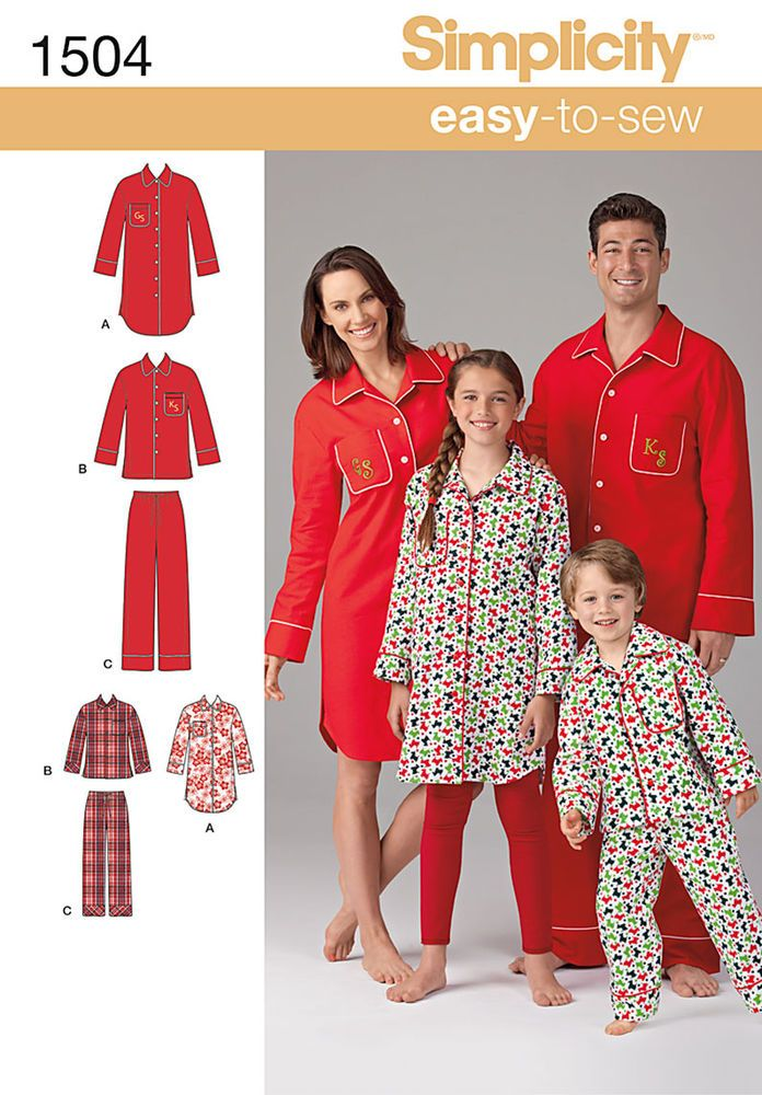 """get cozy with the whole family in these easy to sew loungewear shirts in two   lengths and pants. button down collared shirts, have chest pocket and can be personalized with piping and embroidered   initials.<p></p><p>note: if used as sleepwear, use fabrics & trims that meet the flammability   standards set by the u.s. government.</p><p></p><img src=""""skins/skin_1/images/icon-printer.gif""""   alt=""""printable pattern"""" /><a href=""""#"""" onclick=""""toggle_visibility('foo');"""">printable pattern..."""
