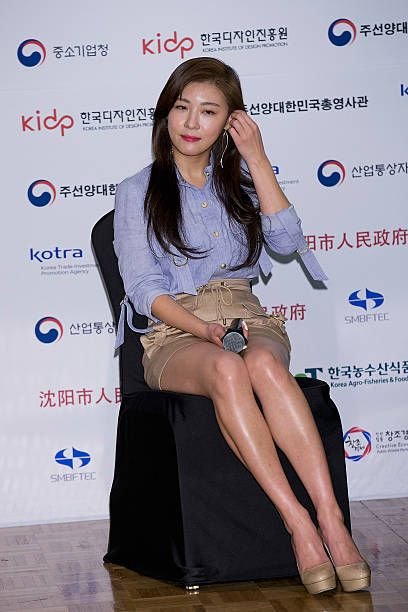 Actress Ha Ji-Won attends the press conference for 'Korea Brand Entertainment Expo 2016 Shenyang' at Lotte Hotel on April 14, 2016 in Seoul, South Korea.