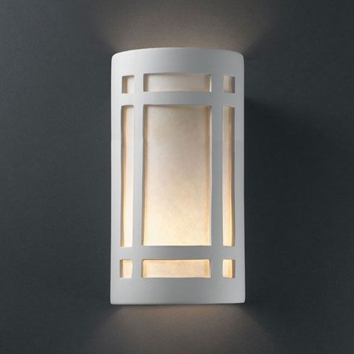 Mission Style Bathroom Wall Sconces : Justice Design Group Ambiance Rust Patina Large Craftsman Window Two-Light Bathroom Wall Sconce ...