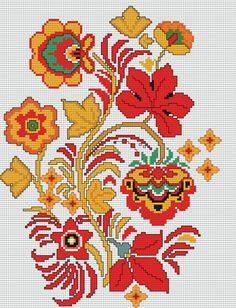 Скачайте схемы Картина «Хохлома», вид рукоделия Вышивка крестом - Валентина.ру