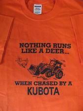 KUBOTA TRACTOR KUBOTA SHIRT BURNT ORANGE KUBOTA SHIRT BIG ORANGE SHIRT TRACTOR
