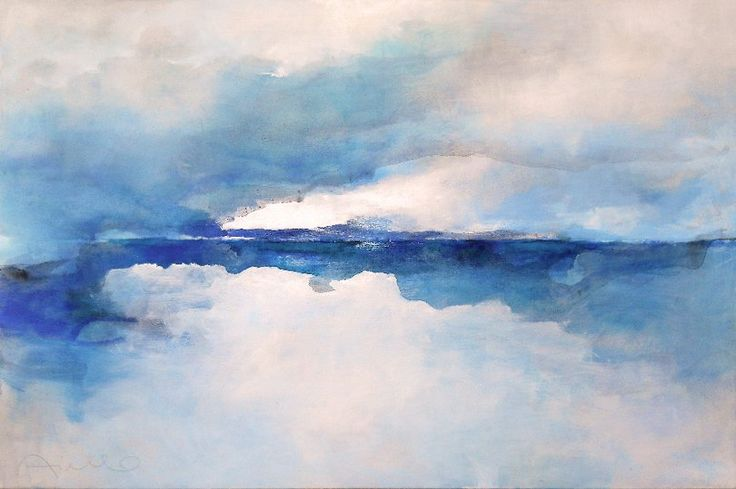 seascape cm 150 x 100 abstract landscape paintings of sergio aiello , contemporary abstract landscape painter