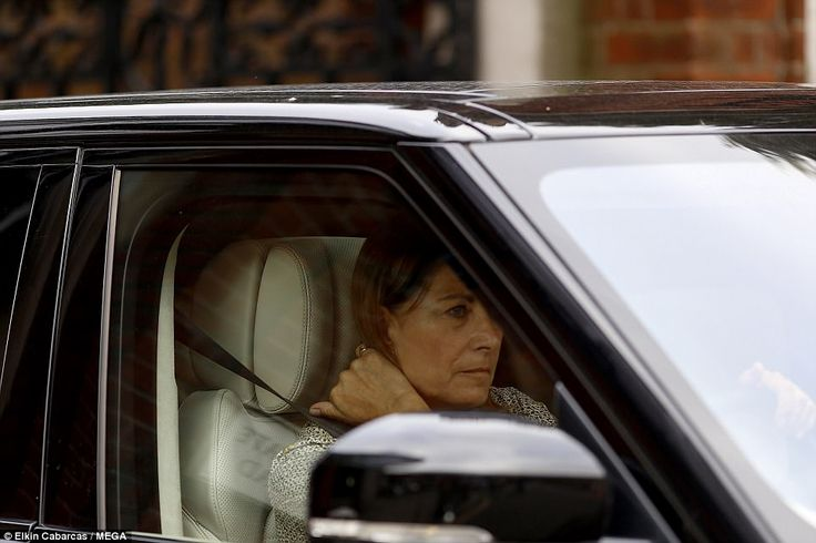 Kate's mother Carole Middleton was today seen leaving Kensington Palace in a black Land Rover, where she had spent the day with her daughter