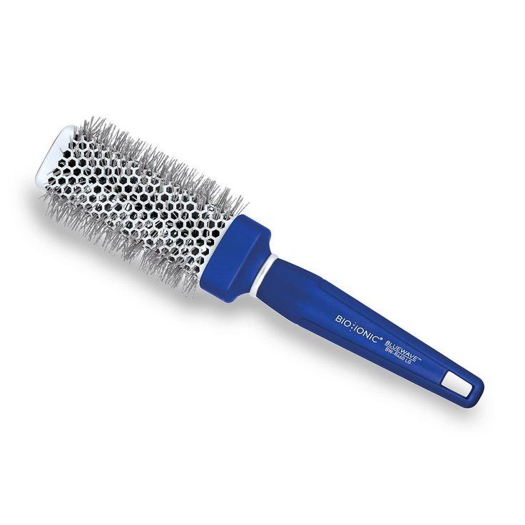 "Bio Ionic BlueWave NanoIonic Conditioning 1.75"" Square Round Hair Brush, Blue"