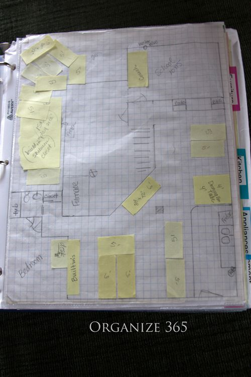 When planning furniture placement in a room, draw the plan to scale and use stickies cut to the right size as furniture. Move them around till you're satisfied!
