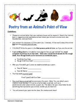 0011 Writing Poetry From Animal's Point of View First Person
