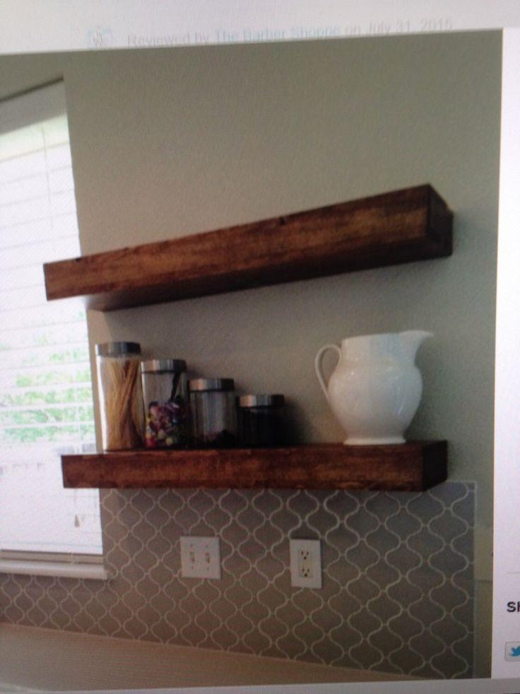 Rustic Floating Wall Shelves Part - 44: Best 25+ Reclaimed Wood Floating Shelves Ideas On Pinterest | Reclaimed  Wood Shelves, Diy Wood Shelves And Cheap Floating Shelves