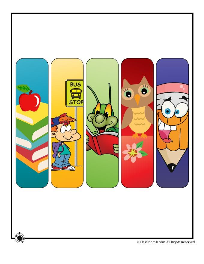 Printable Bookmarks for Teachers Printable Back to School Bookmarks – Classroom Jr.