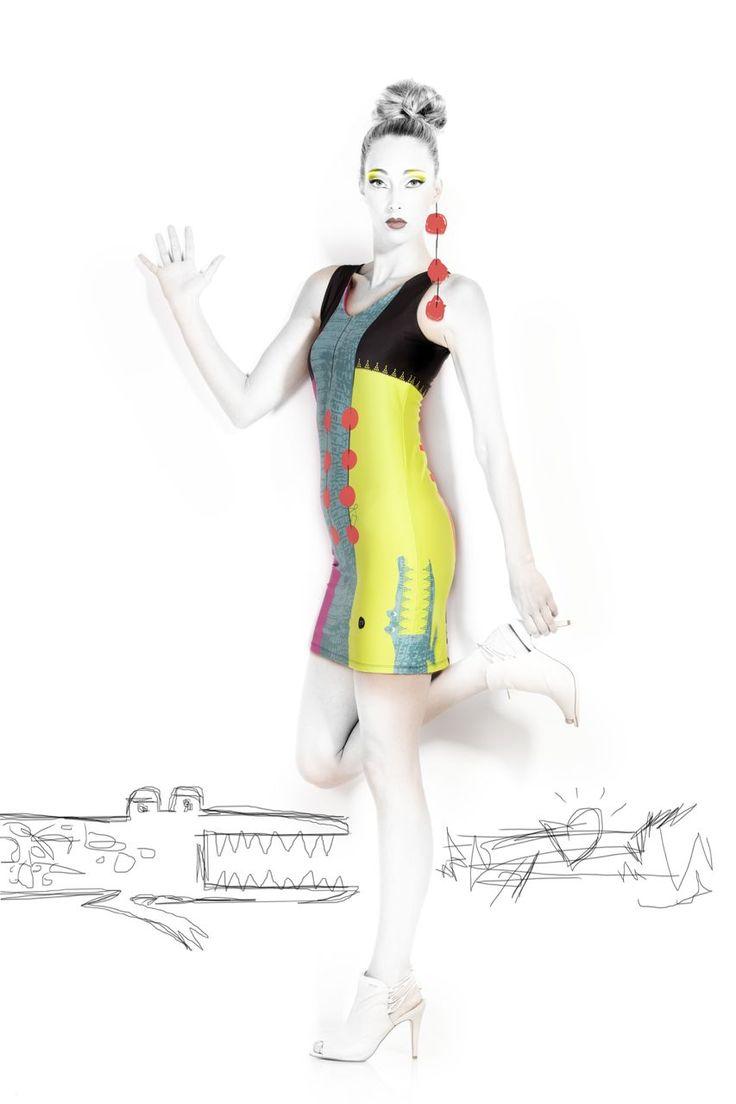 VOLT Dress Croco, Fun Fashion