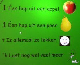 liedje: één hap uit een appel