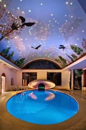 Modern Architecture. - Stunning Indoor Swimming Pool !!
