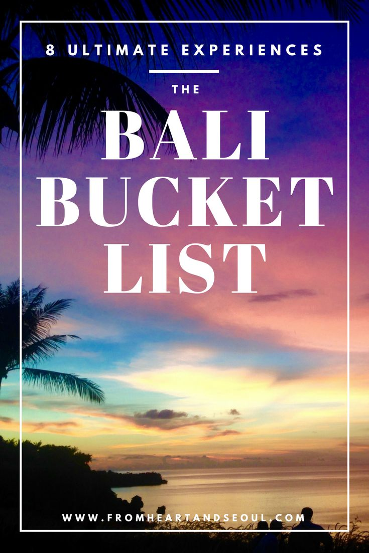 If you haven't been to Bali, you need to pack your bags and check it off your bucket list now! Click here to read about some of the most unforgettable and incredible things to do there.