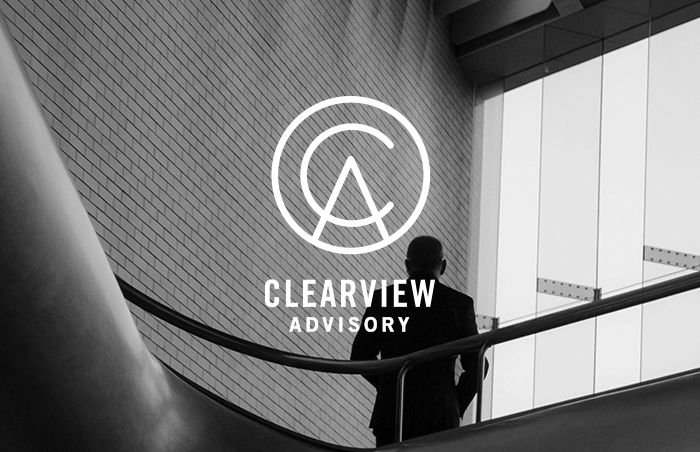 Clearview Advisory Identity Branding by Shari Margolin Design Co. - graphic design | logo | branding | branding design | corporate logo | advisor logo | financial logo | logo design